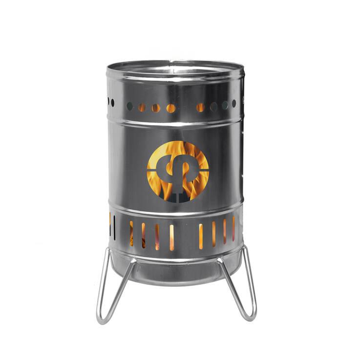 Stahlbude Feuerkorb 30 Liter Edelstahl