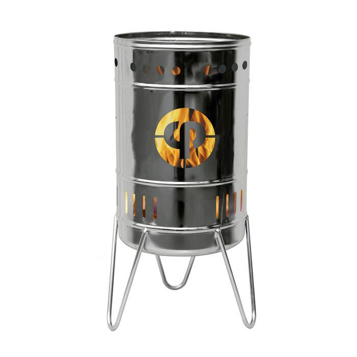 Stahlbude Feuerkorb 50 Liter Edelstahl