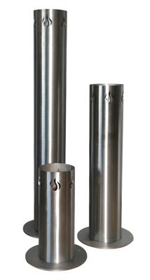 Stahlbude Feuersäule Edelstahl in drei verschiedenen Größen