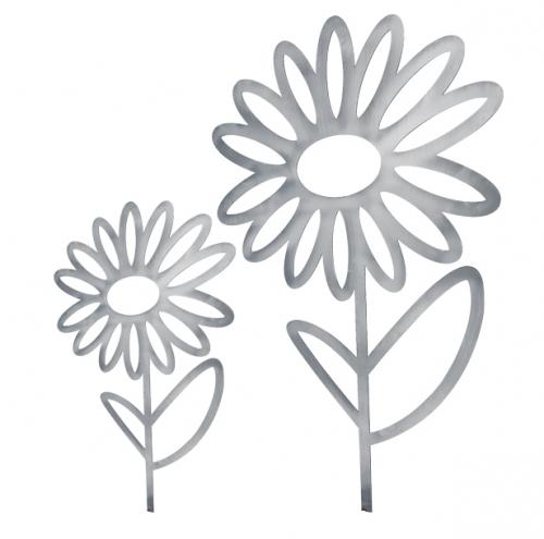 Blumenstecker 90 cm Höhe Garten Deko Rost