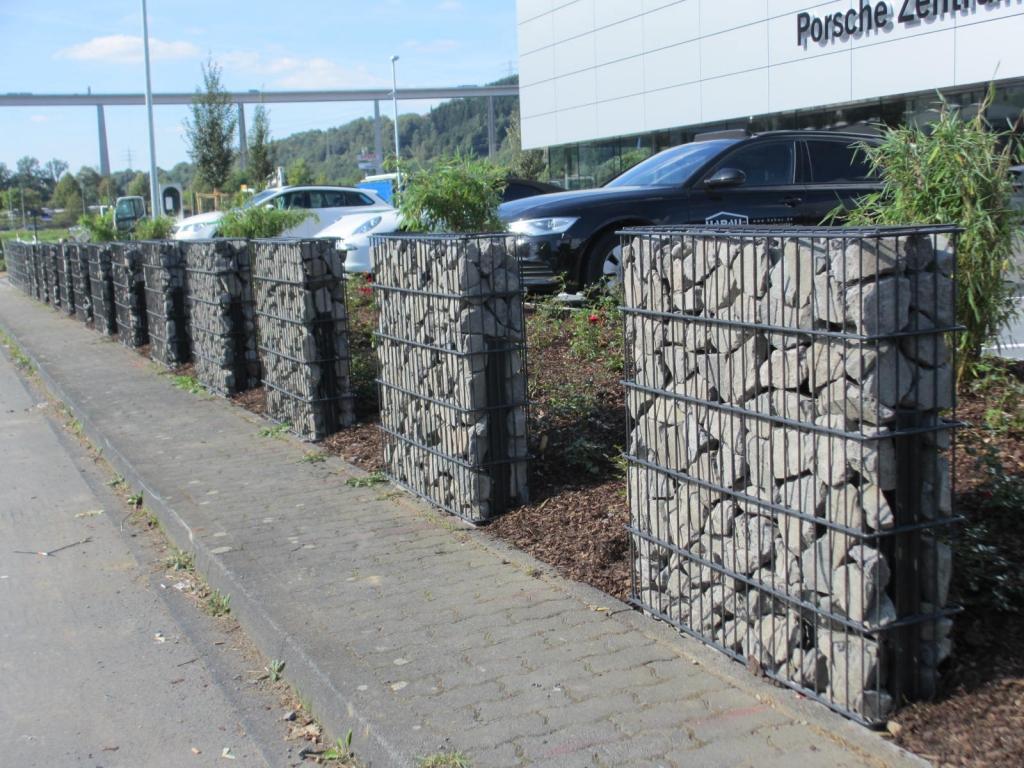 Gabionen Herling Porsche Zentrum Zaun