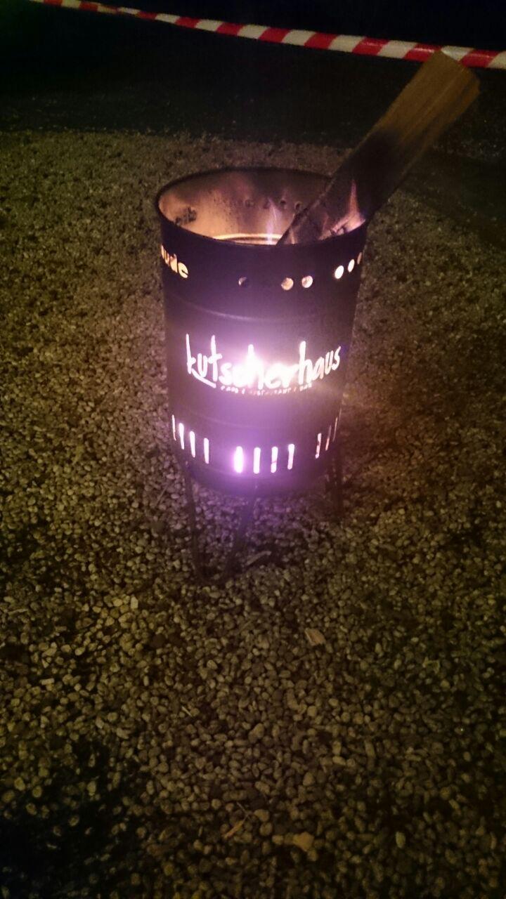 Stahlbude Feuerkorb Kutscherhaus