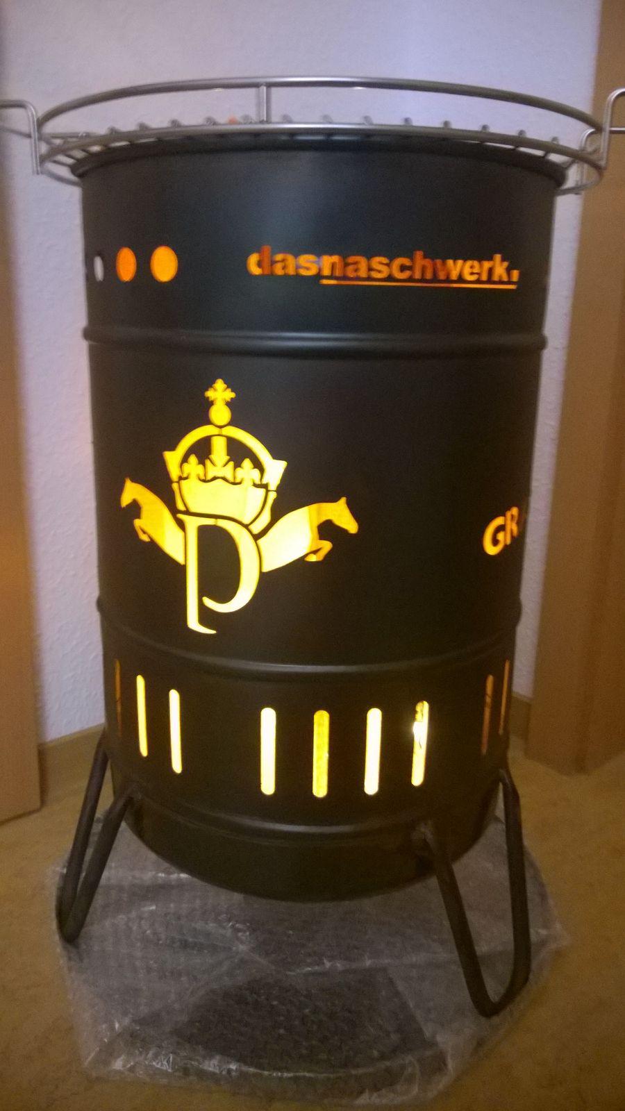 Stahlbude Feuerkorb 50 Liter das Naschwerk Logo